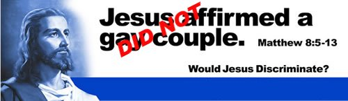 Jesus did NOTaffirmed a gay couple!