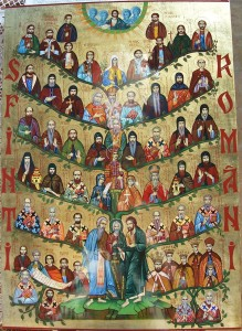 An icon of all Romanian Saints